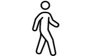 person walking icon